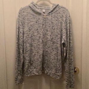 Old Navy Grey soft zip hoodie sweater
